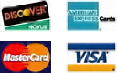 We accept Discover, MasterCard, American Express, and Visa credit cards.