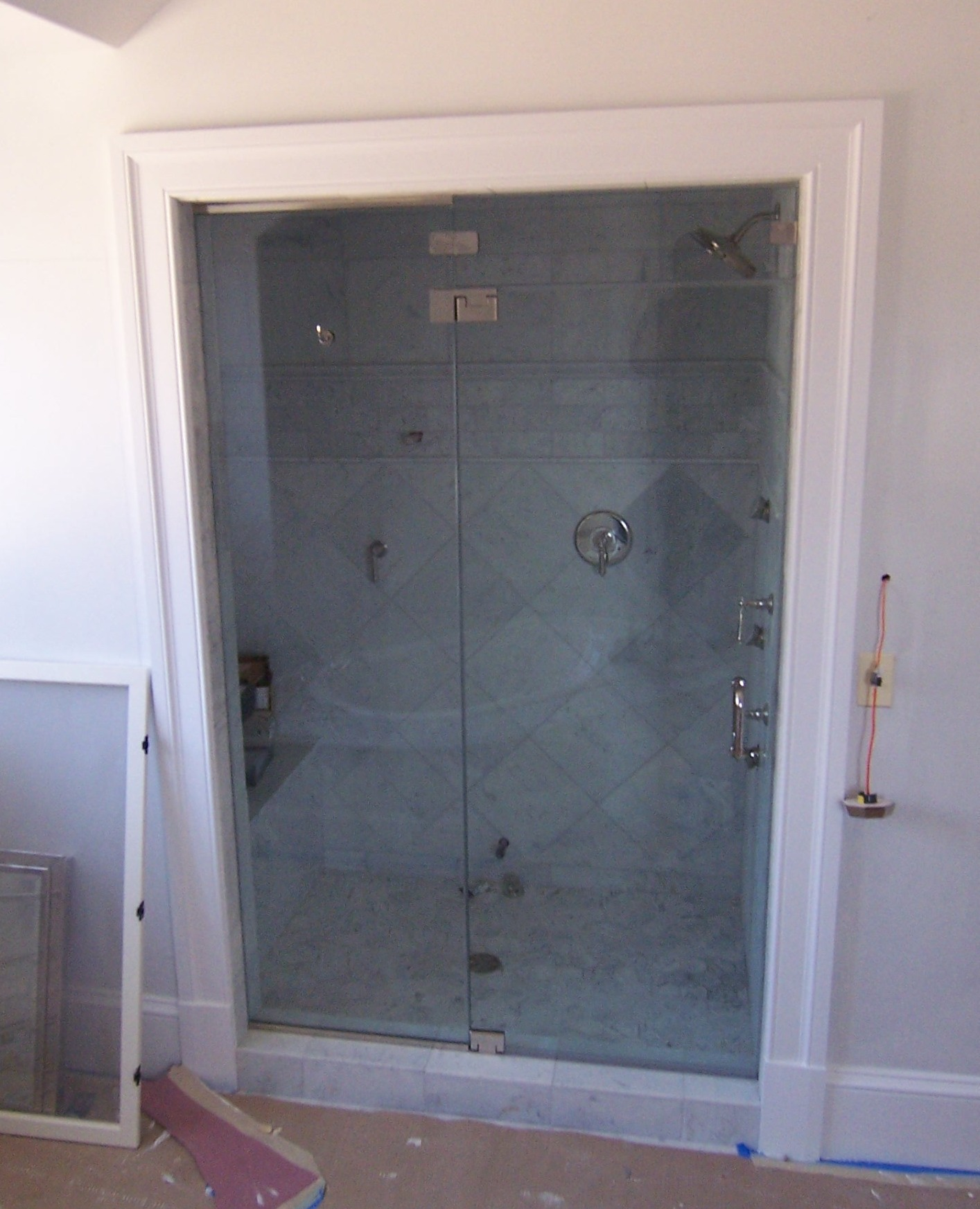 Door panel shower door king shower door installations frameless door and panel transom steam unit eventelaan Images