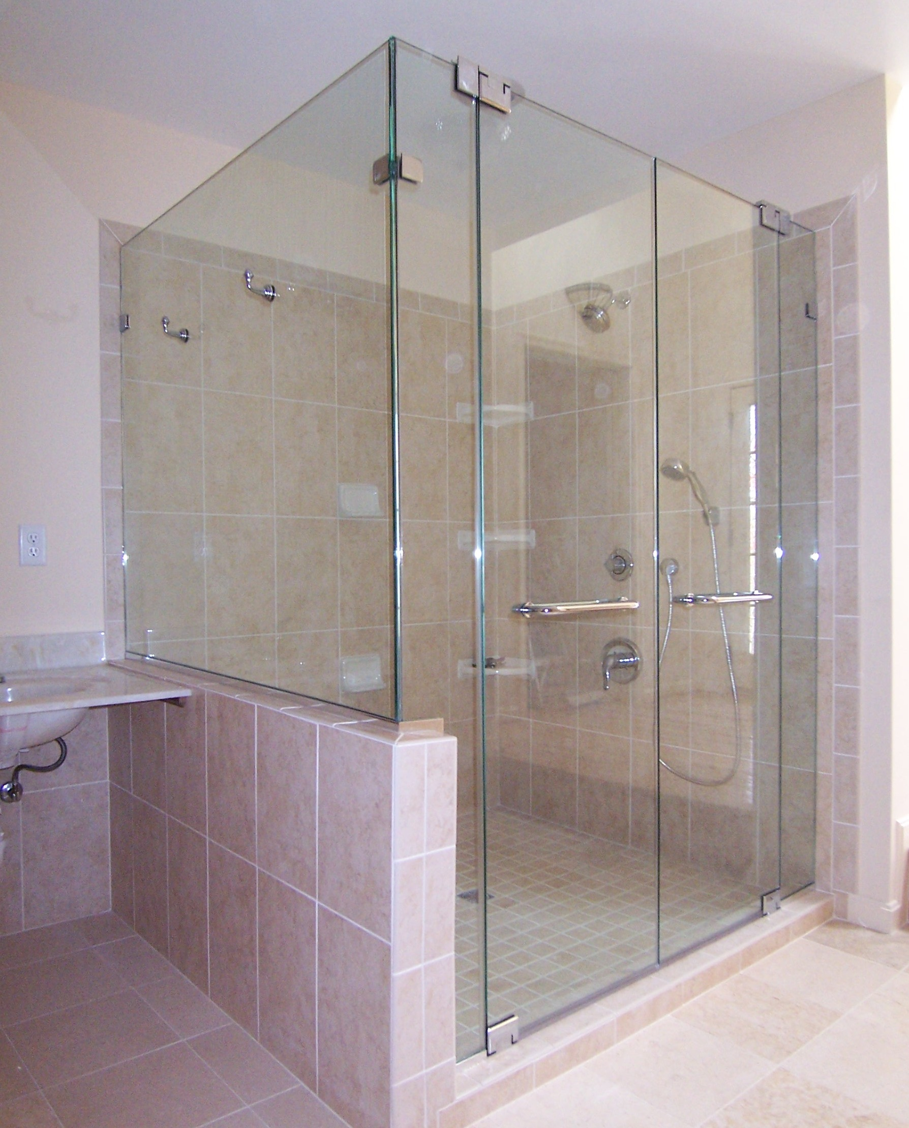 Panel door panel return shower door king shower door installations frameless panel french doors panel return planetlyrics Gallery