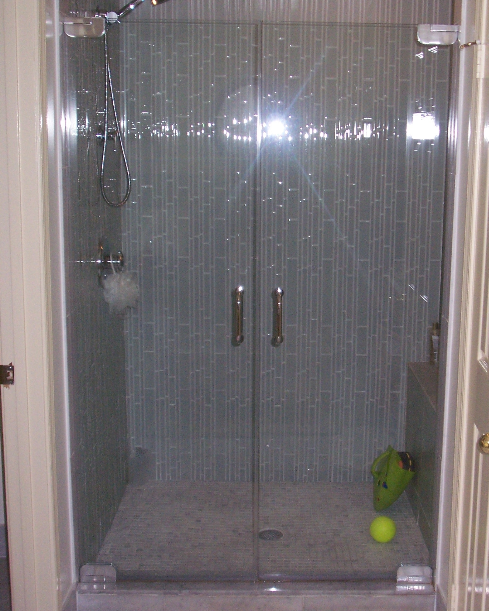 Door panel shower door king shower door installations french doors polished chrome hardware 38 clear glass planetlyrics Gallery