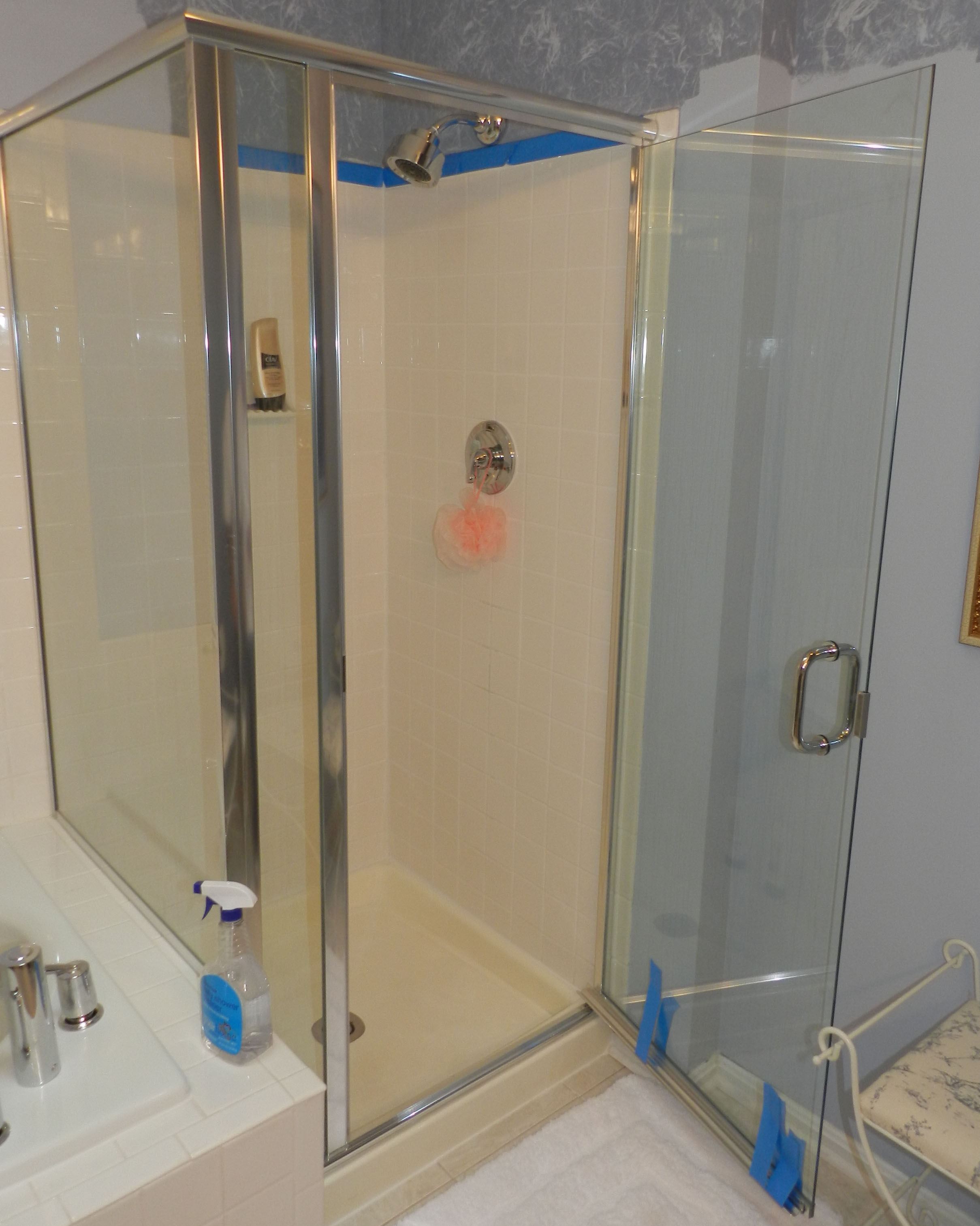 Framed semi frameless shower door king shower door for Frameless glass doors