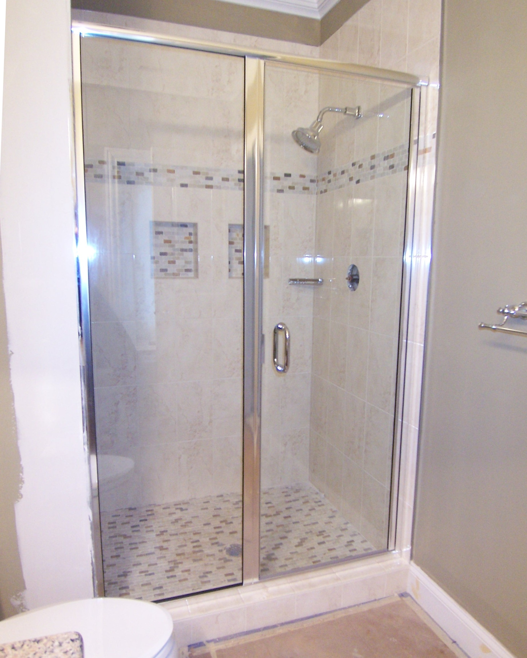 completed blog kerabath hardware shower door we semi few com week doors with chrome heres last frameless