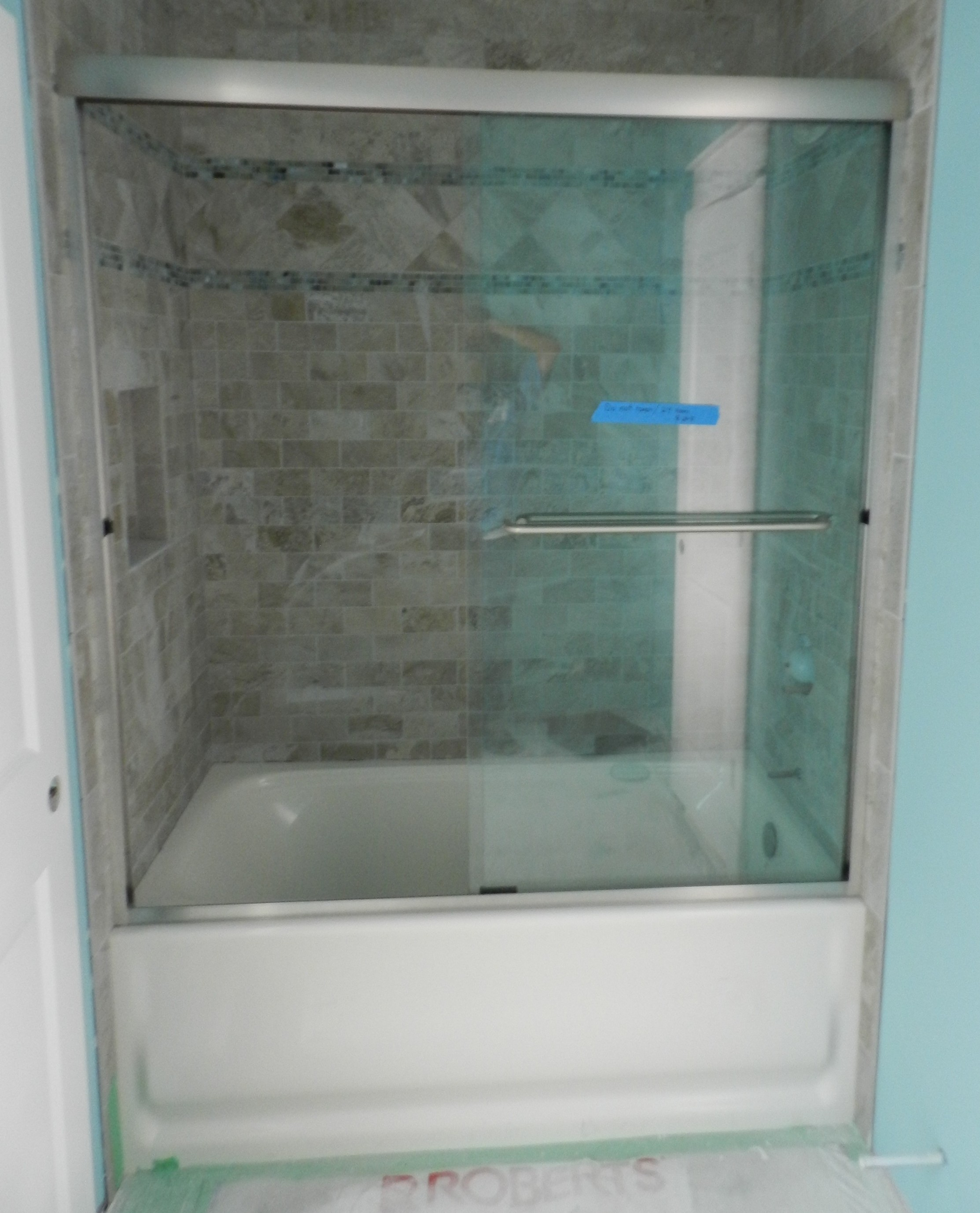 Semi Frameless Tub Slider