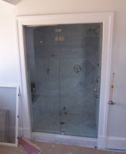 Frameless Door and Panel Transom Steam Unit