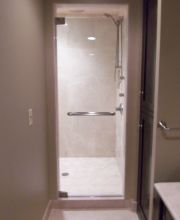 Frameless Shower Door with Towel Bar
