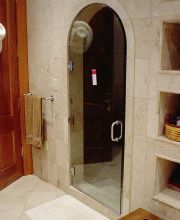 Frameless Shower Door with Curved Top - Frameless Shower Door with Curved Top