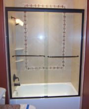 Semi-Frameless Tub Slider Oil Rubbed Bronze Hardware