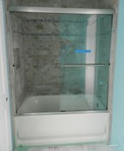 Semi-Frameless Tub Slider