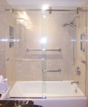 Frameless Tub Slider
