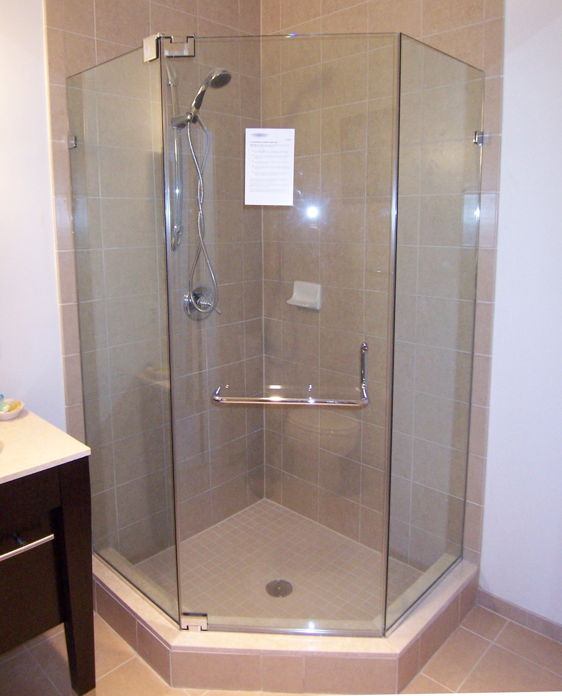 Small Bathroom With Frameless Shower: Shower Door Installations